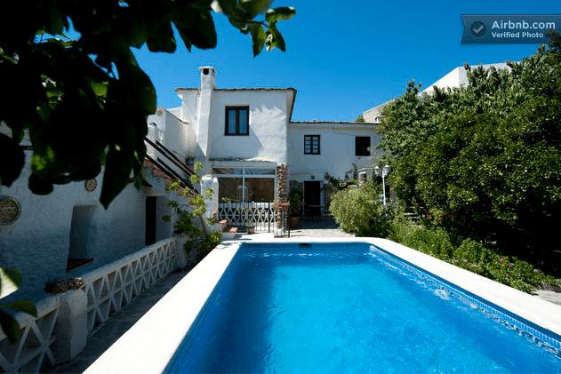Una casa entre el mar y las montañas en Órgiva